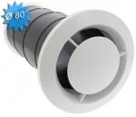 Bouche d'extraction fixe en plastique diamètre 80mm série BOC