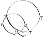 Collier de fixation isolé diamètre 400 mm avec filetage - Unelvent 867748