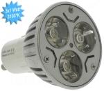 Lampe à LED Vision-EL GU10 3x1 Watts 3100K 230 Volts