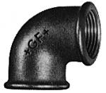 Coude 90° Femelle - Fonte Malléable 90 Noir - 50x60 - Atusa 09021008