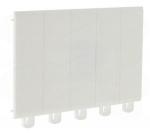 Legrand obturateur 5 modules blanc pour tableau �lectrique