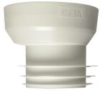 Raccord pour WC - Excentré n°8 - Pour tube diamètre 100 / 110 mm côté mâle - Ceta 214-008
