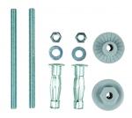 Kit de fixation pour lavabo - Cloison creuse - 8 x 120 mm - Bizline 400111