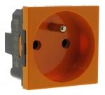 Prise de courant 2P+T Legrand Mosaic Orange antimicrobien