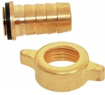 Raccord 2 pièces - Laiton - Diamètre 15 mm - 20 x 27 + 1 collier - Techno 3953256