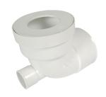 Pipe coudée pour WC - Courte - Diamètre 100 mm - Piquage femelle 40 mm - Nicoll CWP40