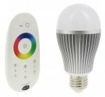 Ampoule à LED - Vision-EL - E27 - 8W - RGB - Bulb - Avec télécommande