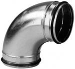 Coude galvanisé à joint - 45 Degrès - Veloduct - 250 mm - Unelvent 867761