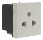 Prise standard Euro-US 2P+T 2 modules Legrand Mosaic
