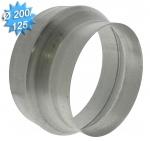 Reduction conduit conique galvanisé diamètre 200/125mm