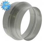 Reduction conduit conique galvanisé diamètre 160/80mm