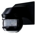 Détecteur de mouvement avec détection à 180 et 360 degrès noir