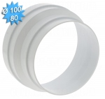 Reduction conduit conique PVC diamètre 100/80mm