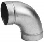 Coude galvanisé - 90 Degrès - 355 mm - Unelvent 864356