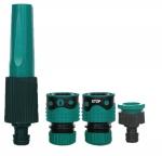 Kit d'accessoires - Bi-matière - Diamètre 19 mm - 1 Nez de robinet 20 x 27 avec reducteur 15x21 + 1 Raccord Rapide + 1 Raccord