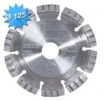 Disque diamant diamètre 125 mm pour matériaux dur et polyvalent