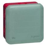 Boite de dérivation étanche 80 x 80 x 45 mm Legrand Plexo gris et rouge
