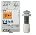 Interrupteur crépusculaire - Réglable de 1 à 100000 lumens - Programmable 7 jours - R - Theben 1220200