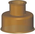 Manchon double WC - Grand modèle - 30 x 65 - Parab 2205-r - Gripp 298134