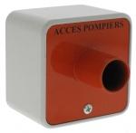 .Contacteur à clé triangle pour accès pompier diamètre 14