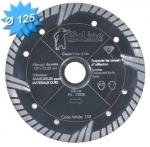 Disque diamant diamètre 125 mm pour matériaux abrasifs et tendre
