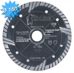 Disque diamant diamètre 150 mm pour matériaux abrasifs et tendre