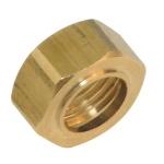 Ecrou Collet Battu en laiton - 12 x 17 - Pour tube 10 mm - Sachet de 2 pièces