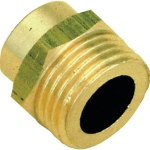 Manchon en laiton à souder - 12 mm vers filetage Mâle 20 x 27 - Sachet de 2 pièces