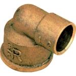 Coude en laiton - Femelle - 14 mm à souder vers 12 x 17 à visser - Sachet de 2
