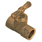 Té en laiton à souder - Purge - Droit - Diamètre 16 mm - Sachet de 2