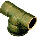 Té en laiton - 18 mm à souder vers 15 x 21 à visser - Sachet de 2
