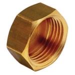Bouchon en laiton à visser - Femelle - 12 x 17 - Sachet de 2 pièces