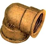 Coude en laiton à visser - Femelle / Femelle - Egal brut - 12 x 17 - Sachet de 2