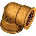 Coude en laiton à visser - Femelle / Femelle - Egal brut - 15 x 21 - Sachet de 2