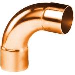 Coude 90 degrès à souder en cuivre - Grand Rayon - Femelle / Femelle - Diamètre 18 mm - Sachet de 2