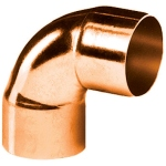 Coude 90 degrès à souder en cuivre - Petit Rayon - Femelle / Femelle - Diamètre 18 mm - Sachet de 2