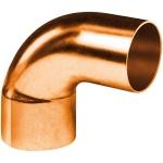 Coude 90 degrès à souder en cuivre - Petit Rayon - Mâle / Femelle - Diamètre 18 mm - Sachet de 2