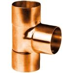 Té à souder en cuivre - Femelle / Femelle / Femelle - Diamètre 12 mm - Sachet de 2