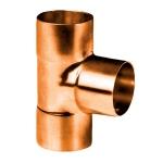 Té à souder en cuivre - Femelle / Femelle / Femelle - Diamètre 14 mm - Sachet de 10