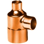 Té à souder en cuivre - Femelle / Femelle / Femelle - Diamètre 14 / 12 / 14 mm - Sachet de 10