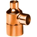 Té à souder en cuivre - Femelle / Femelle / Femelle - Diamètre 16 / 14 / 14 mm - Sachet de 10