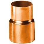 Réduction en cuivre à souder - Femelle 22 mm vers Femelle 14 mm - Sachet de 2