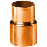 Réduction en cuivre à souder - Femelle 22 mm vers Femelle 18 mm - Sachet de 2