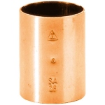 Manchon à souder en cuivre - Femelle / Femelle - Diamètre 18 mm - Sachet de 10