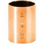 Manchon à souder en cuivre - Femelle / Femelle - Diamètre 22 mm - Sachet de 25