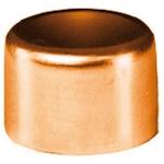 Bouchon à souder en cuivre - Femelle - Diamètre 18 mm - Sachet de 2