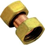 Raccord en laiton à visser - Ecrou tournant - Femelle / Femelle - 12 x 17 - Sachet de 2