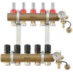 Collecteur prémonté - 26 x 34 - D16 - 4 circuits avec débimètre étriers raccords et pièces terminales - Altech