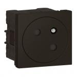 Prise de courant - 2P+T - Noir Mat - Surface - Legrand 079145L