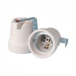 Douille céramique - Culot E27 - 43 x 46 - Avec support équerre - Orbitec 140505